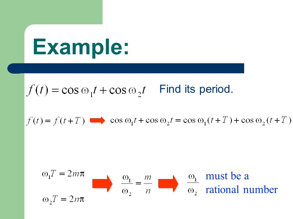 Example: Is this function a periodic one? not a rational number