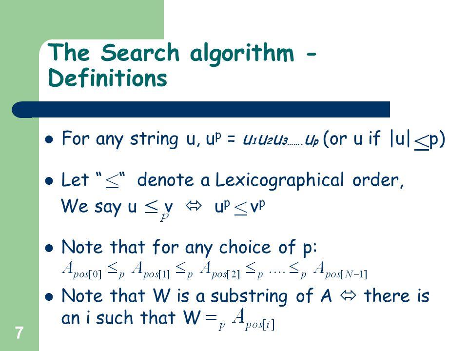 38 Construction of suffix array – The algorithm Example: assassinassininnsassinsinssassinssin H=2 A = assassin 01234567 A1A1 A i sets A i-2