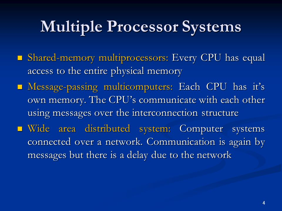 Multiprocessor Synchronization (2) The synchronization problem of previous slide can be prevented The synchronization problem of previous slide can be prevented By locking the bus so that other CPUs can not access it By locking the bus so that other CPUs can not access it Execute the TSL instruction Execute the TSL instruction Unlock the bus Unlock the bus This can be done preferably by hardware locking or by software using spin locks (process executes a tight loop testing its status) This can be done preferably by hardware locking or by software using spin locks (process executes a tight loop testing its status) 25