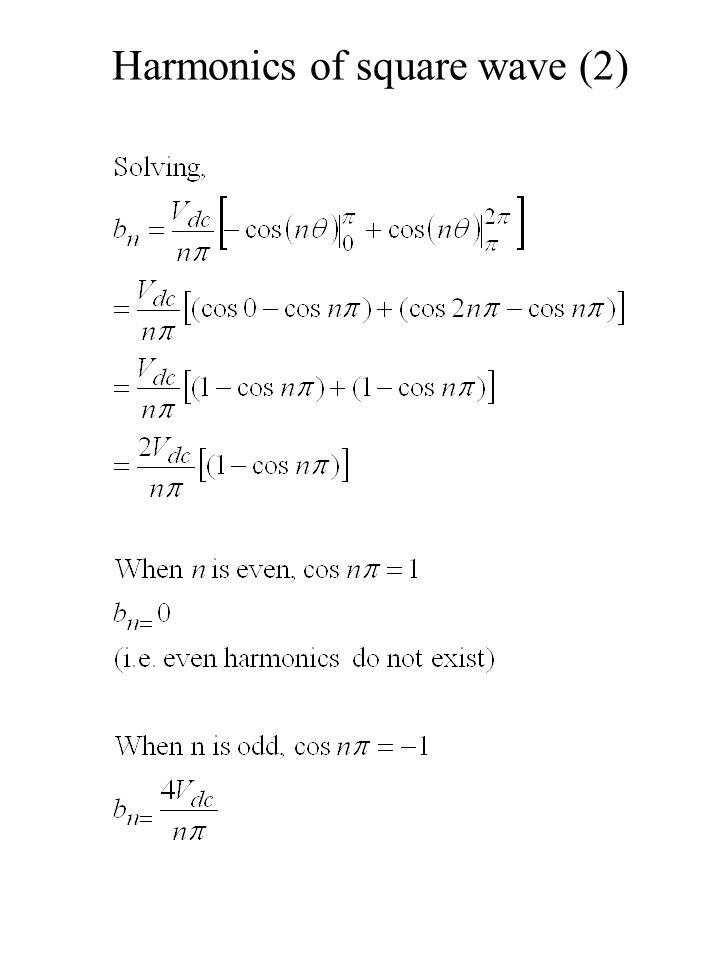 Harmonics of square wave (2)