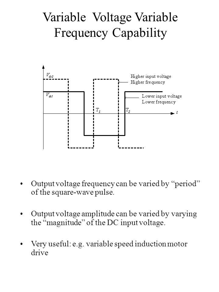 Output voltage harmonics/ distortion Harmonics cause distortion on the output voltage.