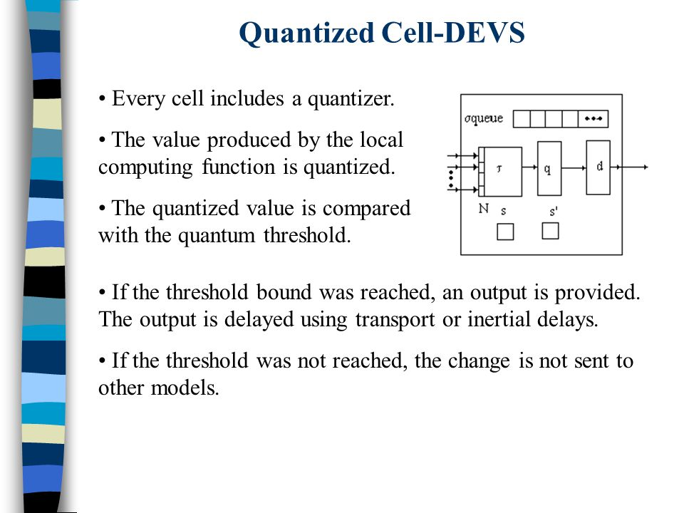Every cell includes a quantizer. The value produced by the local computing function is quantized.
