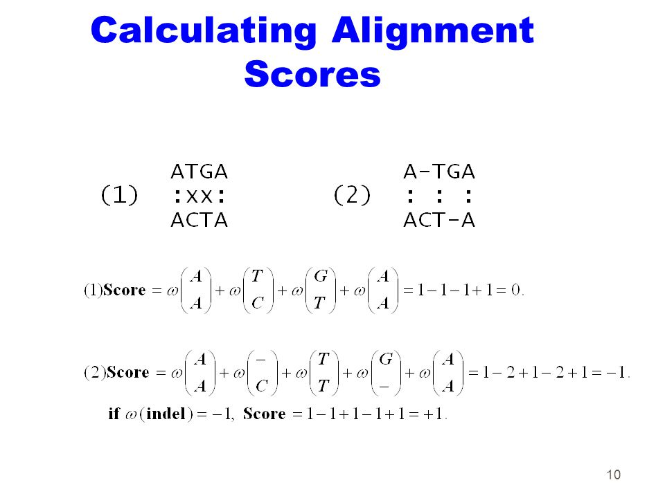 10 Calculating Alignment Scores