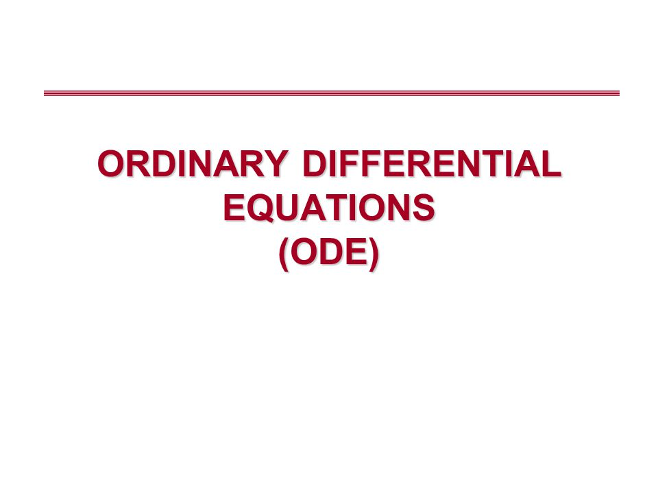 Differential Equations Heat transfer Mass transfer Conservation of momentum, thermal energy or mass (4.1) (4.2) (4.3) ODE PDE