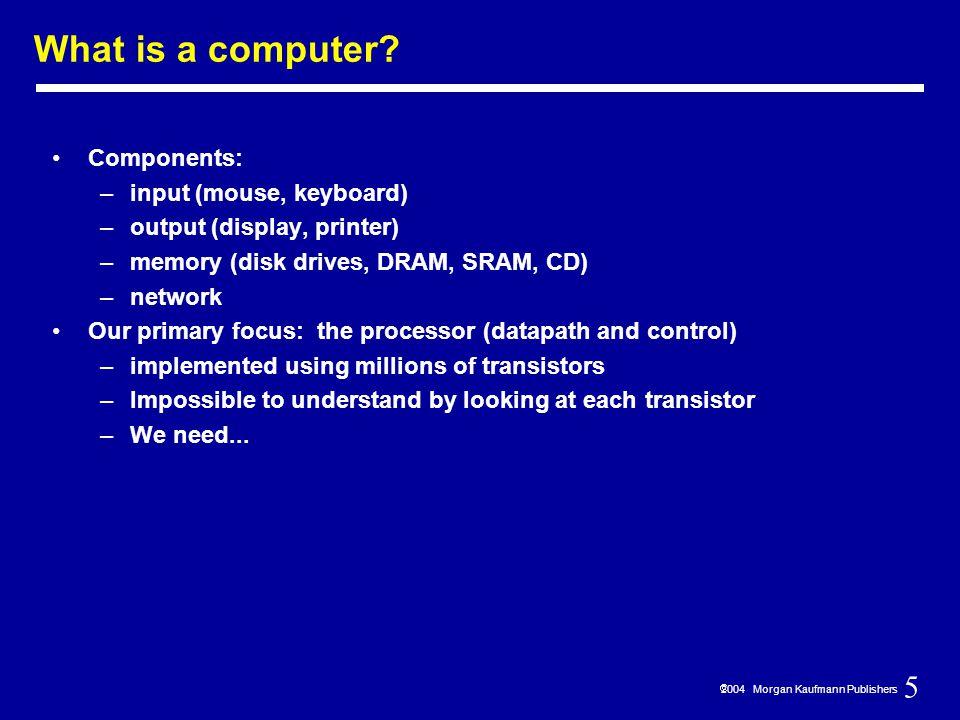 286  2004 Morgan Kaufmann Publishers I/O Devices Very diverse devices — behavior (i.e., input vs.