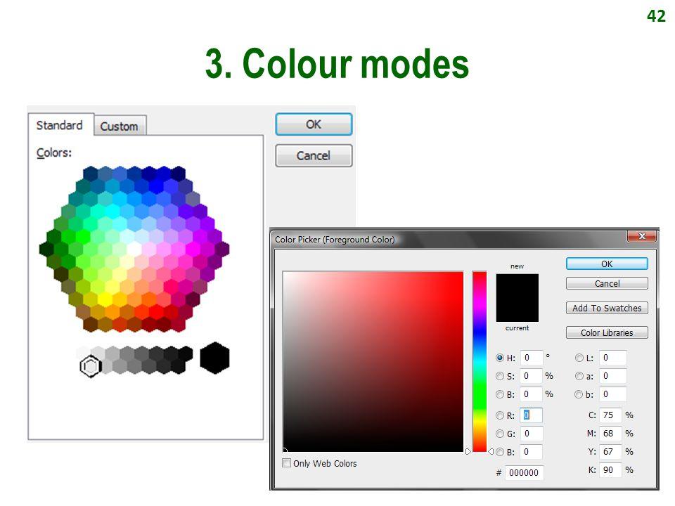 42 3. Colour modes