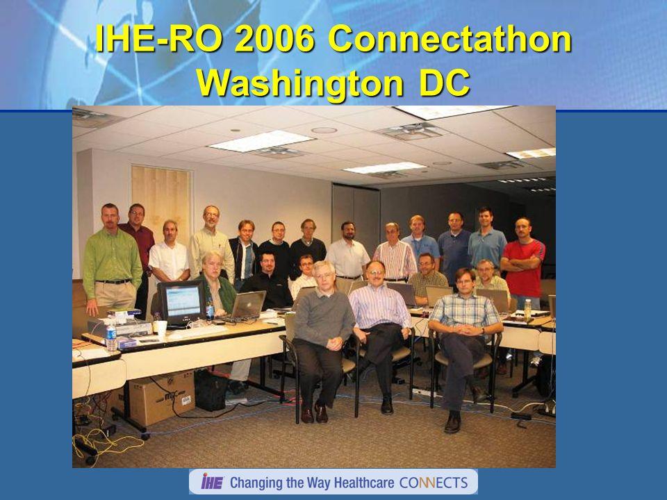 IHE-RO 2006 Connectathon Washington DC