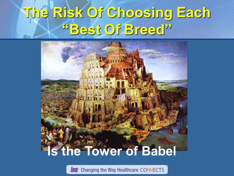 The Risk Of Choosing Each Best Of Breed Is the Tower of Babel