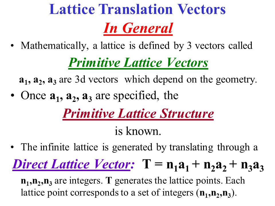 Conventional & Primitive Unit Cells Unıt Cell Types Primitive A single lattice point per cell The smallest area in 2 dimensions, or The smallest volume in 3 dimensions Simple Cubic (SC) Conventional Cell = Primitive cell More than one lattice point per cell Volume (area) = integer multiple of that for primitive cell Conventional (Non-primitive) Body Centered Cubic (BCC) Conventional Cell ≠ Primitive cell