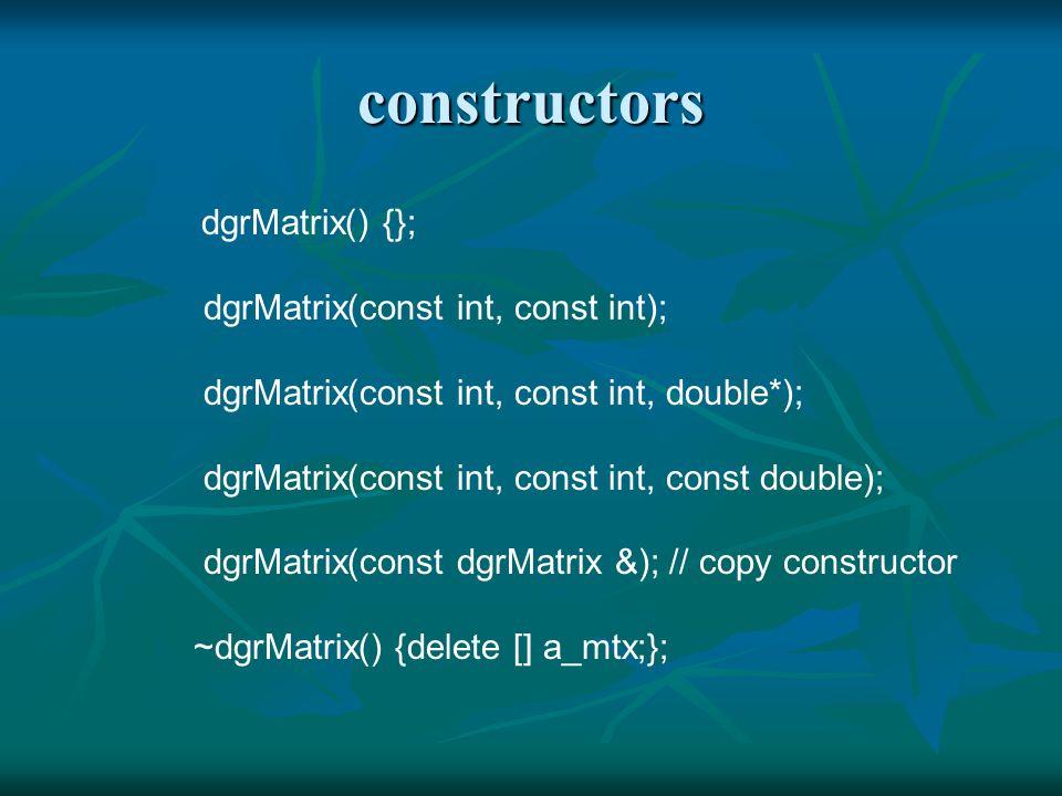 cspmatrix: complex special matrix cspmatrix: complex special matrix 1.Class csqMatrix: complex square matrix (n x n) 2.Class croVector: complex row vector (1 x n) 3.Class ccoVector: complex column vector (n x 1).