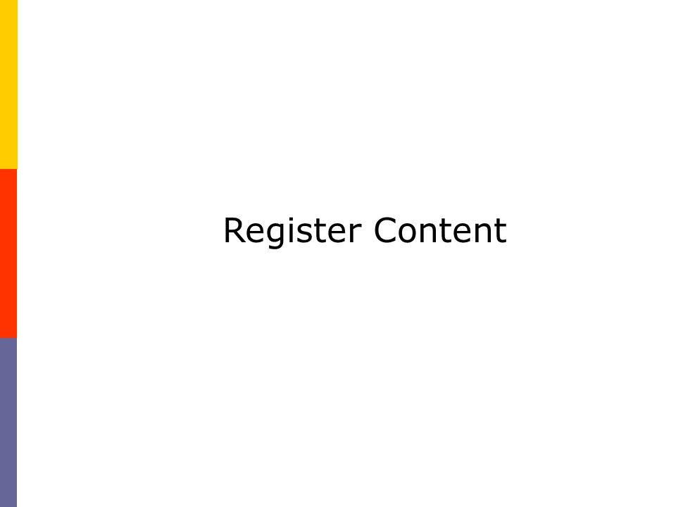 Register Content