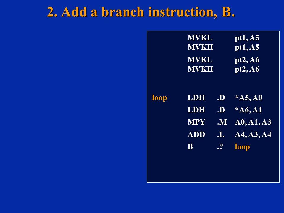 MVKL pt1, A5 MVKL pt1, A5 MVKH pt1, A5 MVKH pt1, A5 MVKL pt2, A6 MVKL pt2, A6 MVKH pt2, A6 MVKH pt2, A6 loop LDH.D*A5, A0 LDH.D*A6, A1 LDH.D*A6, A1 MP