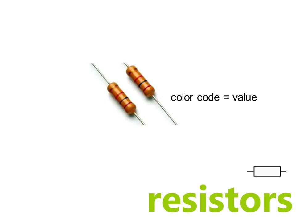 resistors color code = value