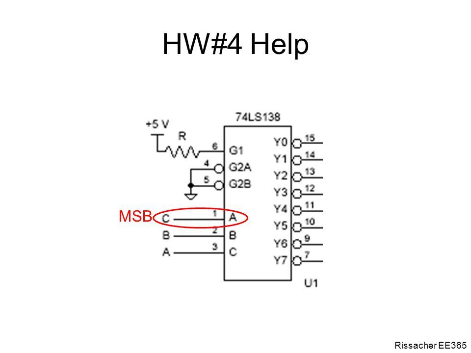 HW#4 Help Rissacher EE365 MSB