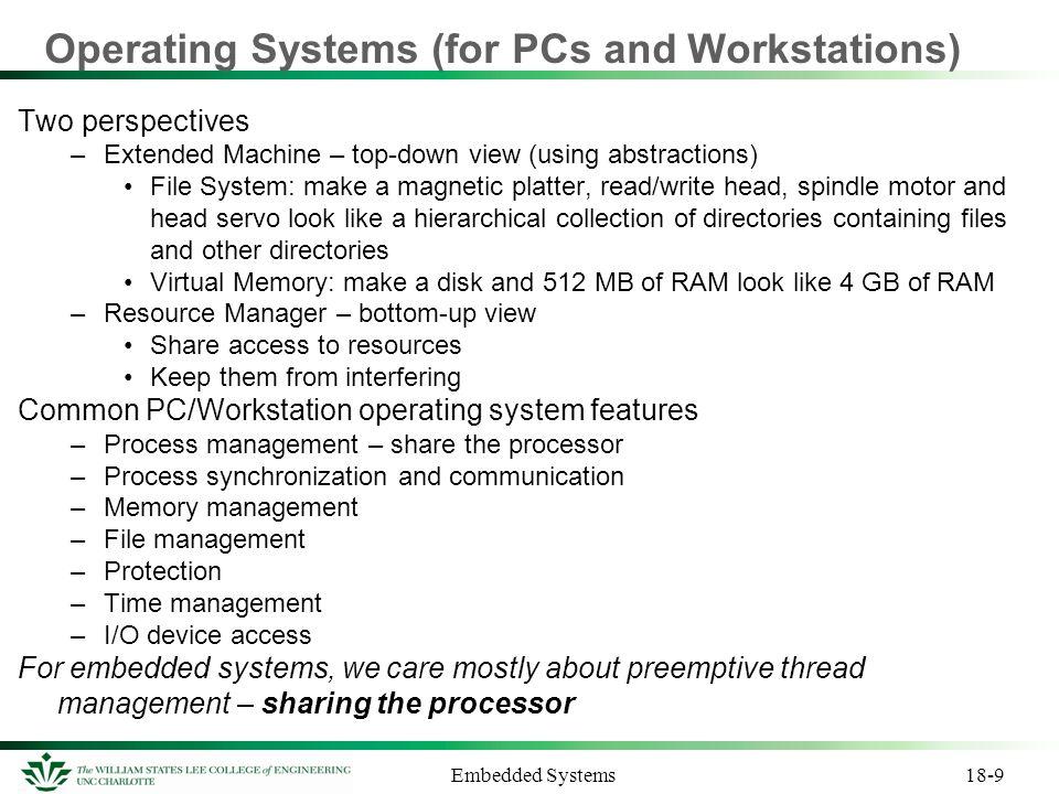 Embedded Systems Preemptive vs.