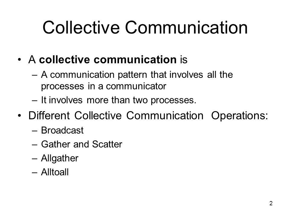 1 Collective Operations Dr. Stephen Tse stse@forbin.qc.edu 908-872-2108 Lesson 12
