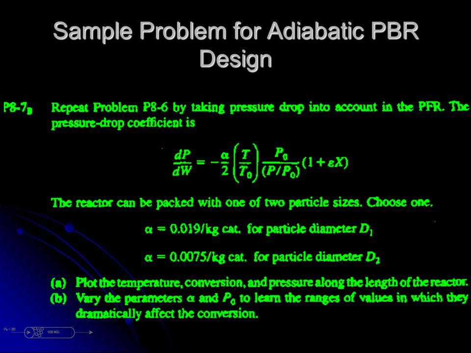 Sample Problem for Adiabatic PBR Design