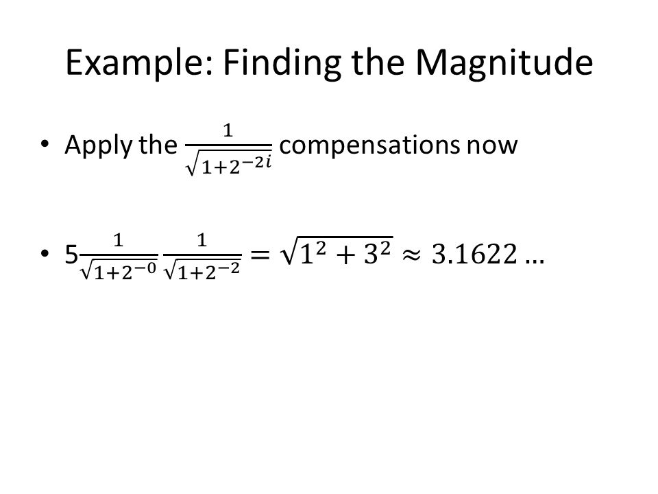Example: Finding the Magnitude