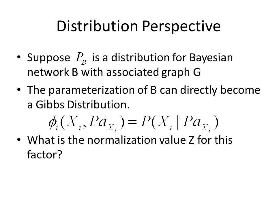 Distribution Example Consider the simple example: B0B1 A0.3.7 A1.1.9 A0A1.4.6 A0,B0A0,B1A1,B0A1,B1.4*.3.4*.7.6*.1.6*.9