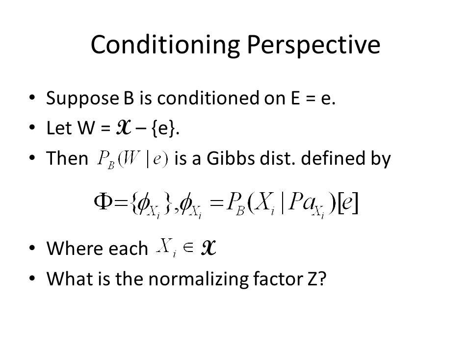 Markov -> Bayesian Example A CB D F E A CB D F E GH