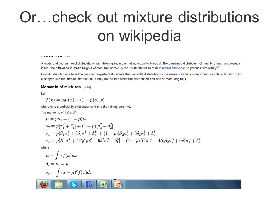 Or…check out mixture distributions on wikipedia