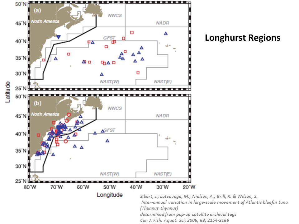 Sibert, J.; Lutcavage, M.; Nielsen, A.; Brill, R. & Wilson, S. Inter-annual variation in large-scale movement of Atlantic bluefin tuna (Thunnus thynnu
