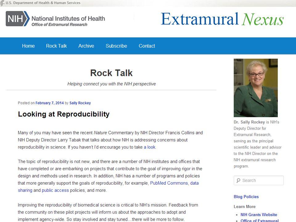 Rock Talk – Looking at Reproducibility