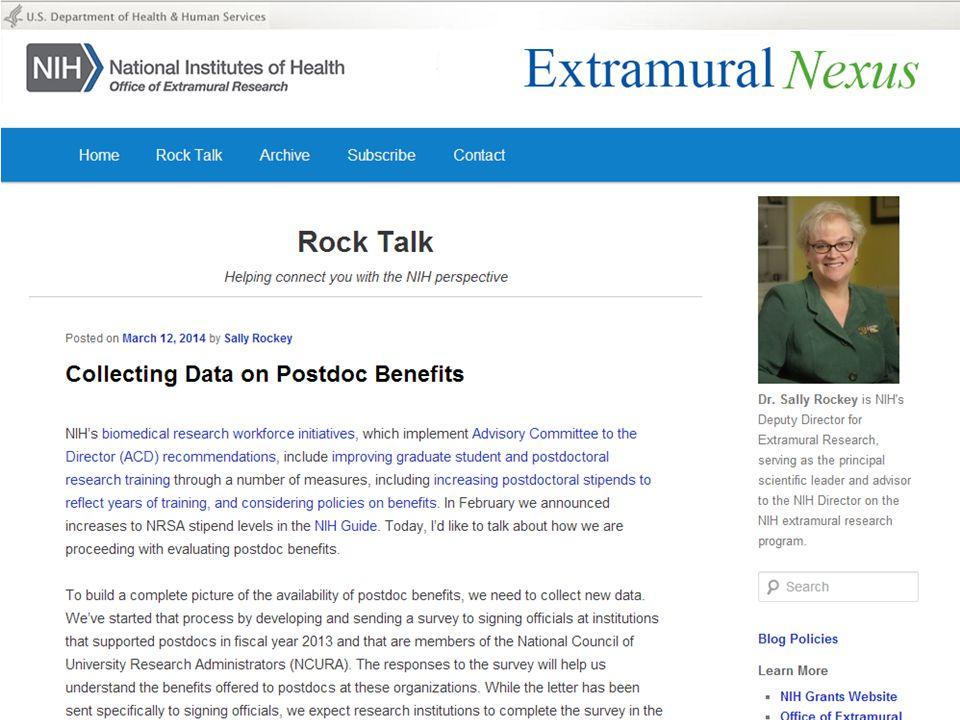 Rock Talk – Collecting Data on Postdoc Benefits