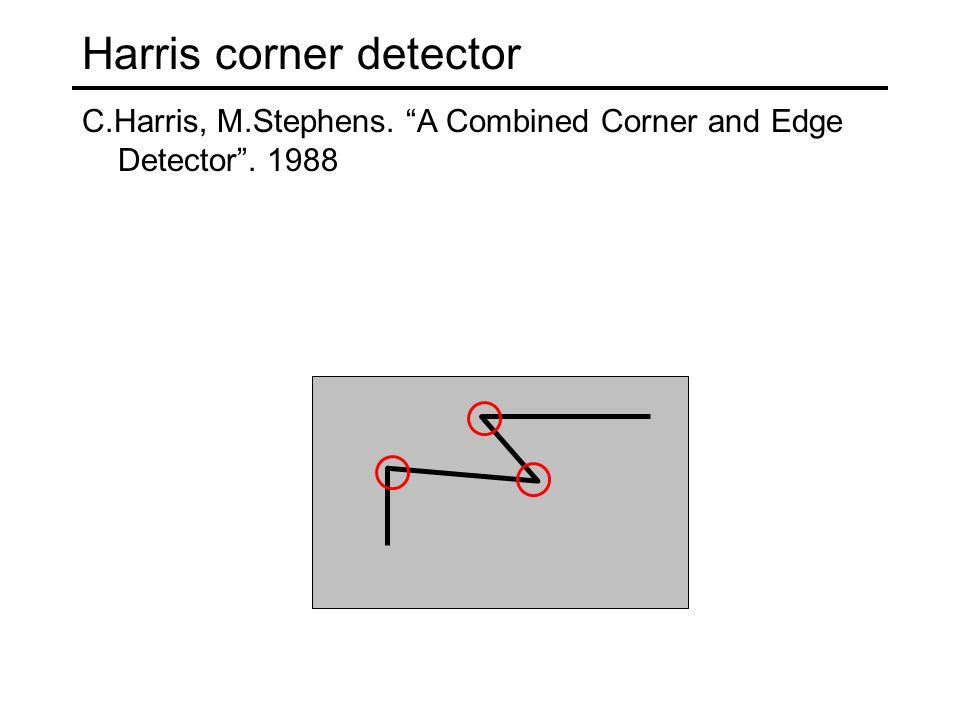 Harris corner detector C.Harris, M.Stephens. A Combined Corner and Edge Detector . 1988