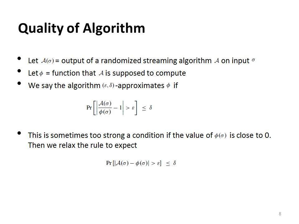 Probability of false positives AG K n = size of table m = number of items k = number of hash functions 39