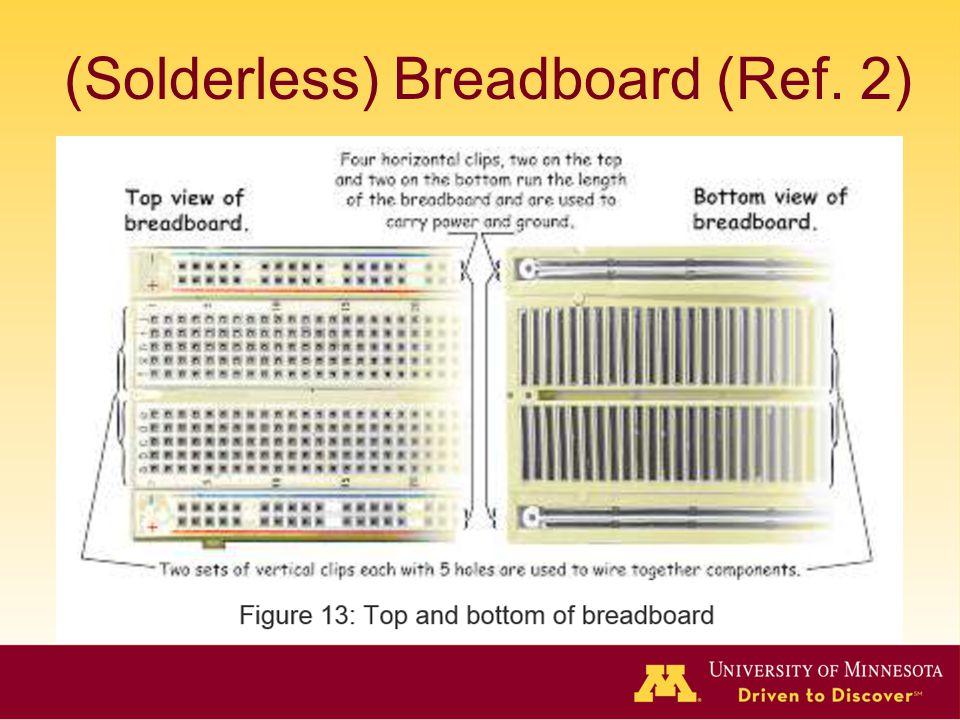 (Solderless) Breadboard (Ref. 2)