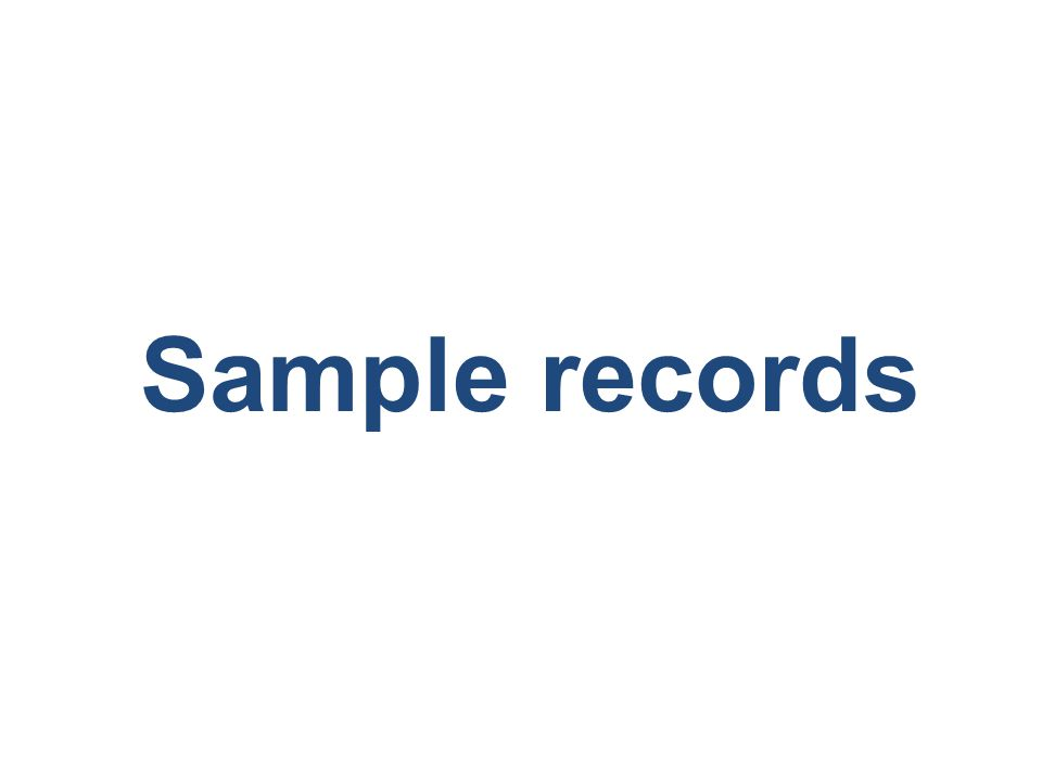 Sample records