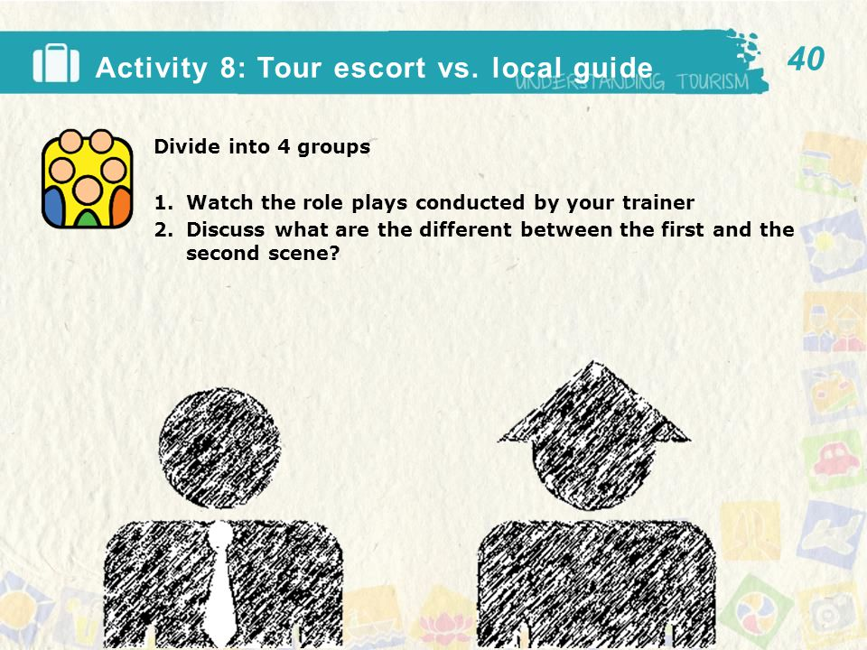 Activity 8: Tour escort vs.