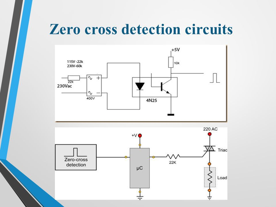 Zero cross detection circuits