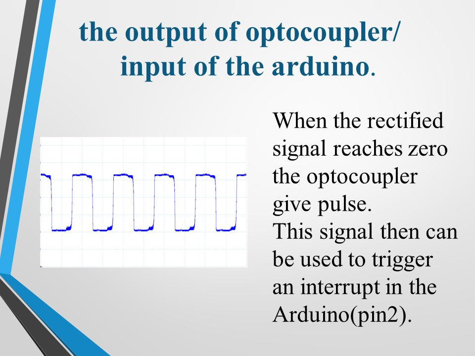 the output of optocoupler/ input of the arduino.
