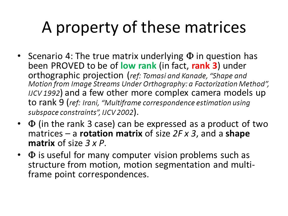 (Many) low-rank matrices are cool.