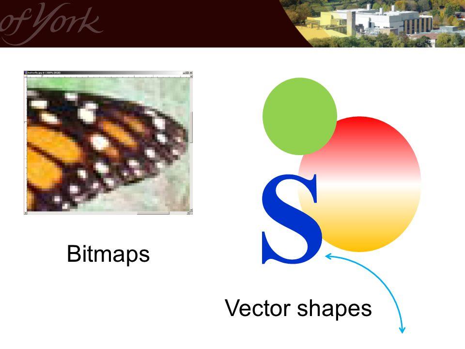 S Bitmaps Vector shapes