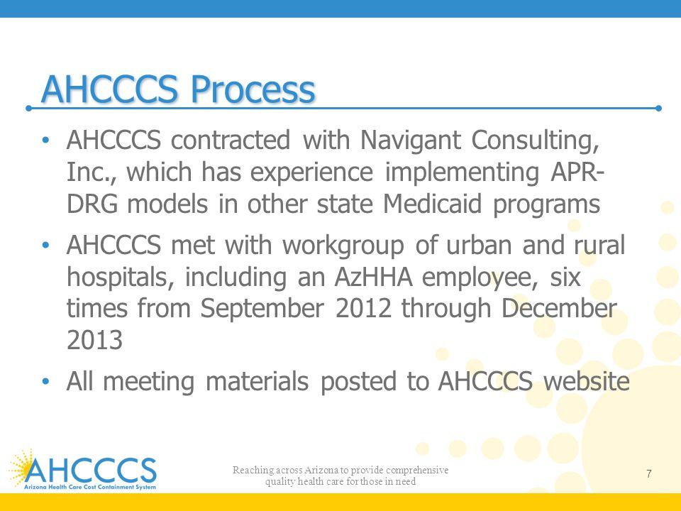 AHCCCS Process, cont.
