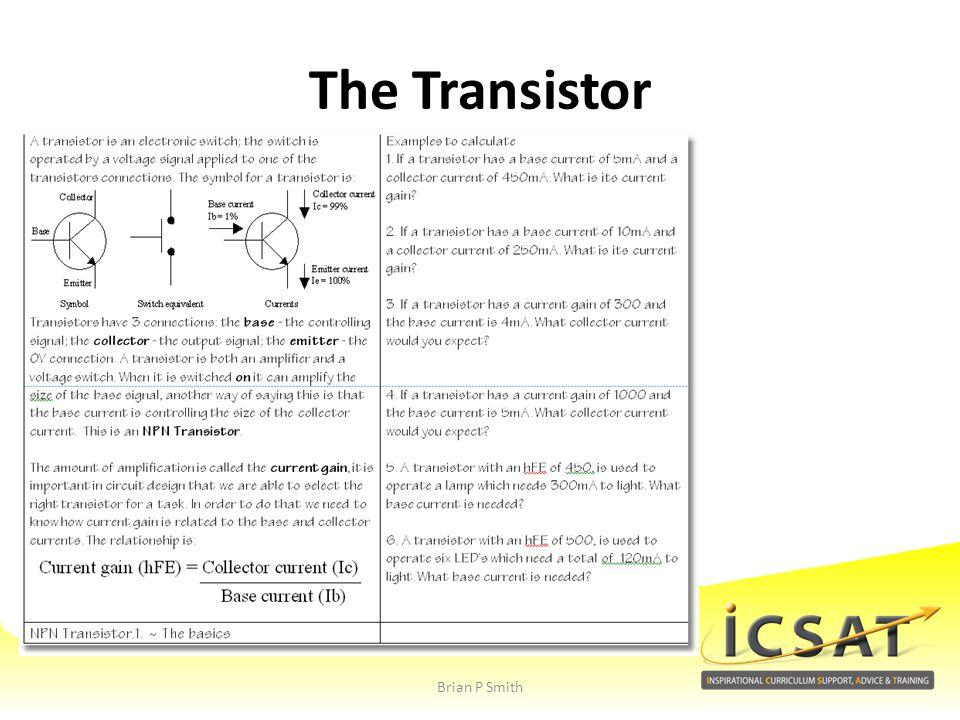 The Transistor Brian P Smith