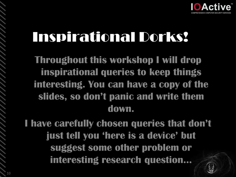 Inspirational Dorks.
