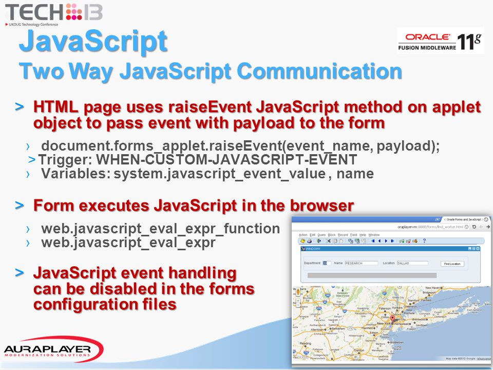JavaScript Two Way JavaScript Communication > HTML page uses raiseEvent JavaScript method on applet object to pass event with payload to the form › do