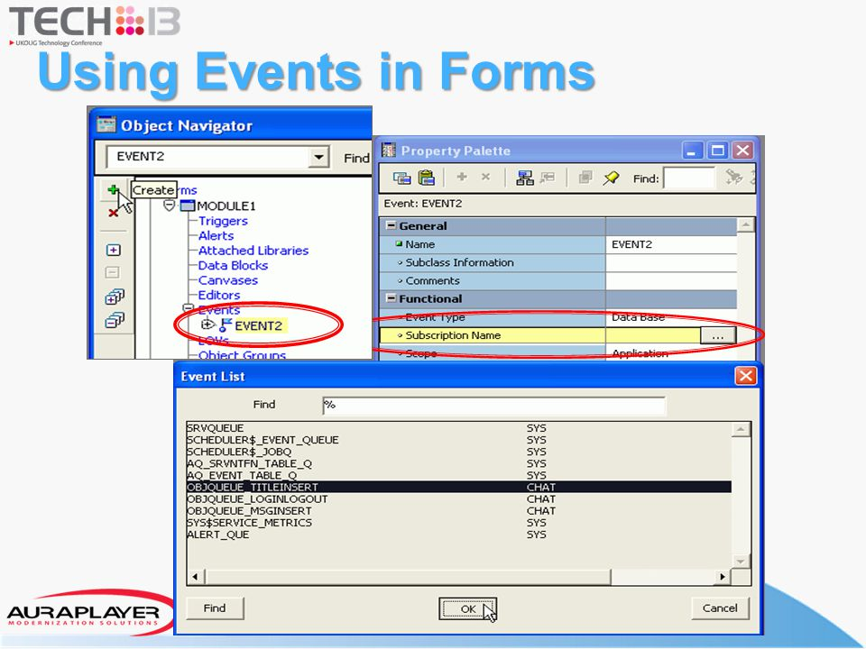 Using Events in Forms