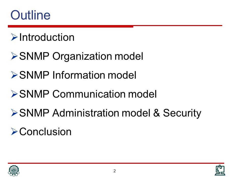 Communication Model: SNMP MIB 103