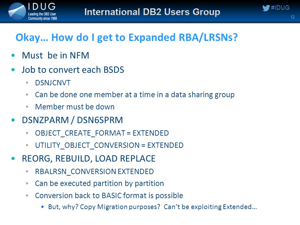 #IDUG Okay… How do I get to Expanded RBA/LRSNs.