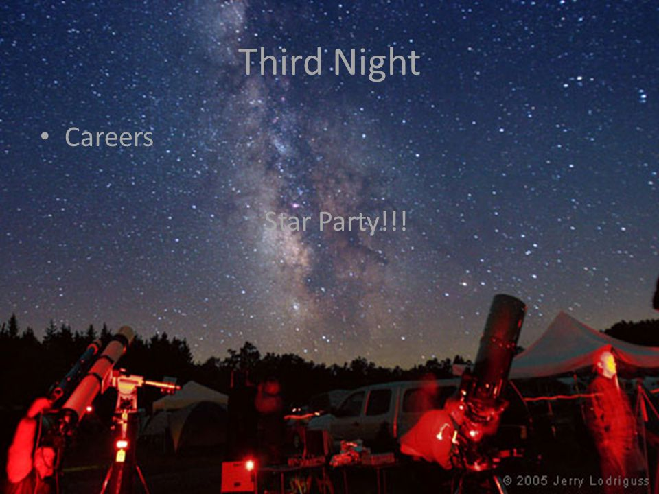 Third Night Careers Star Party!!!