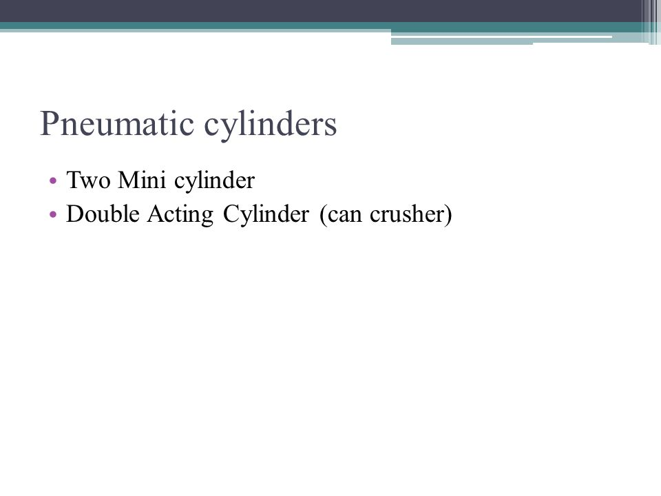 Pneumatic cylinders Two Mini cylinder Double Acting Cylinder (can crusher)