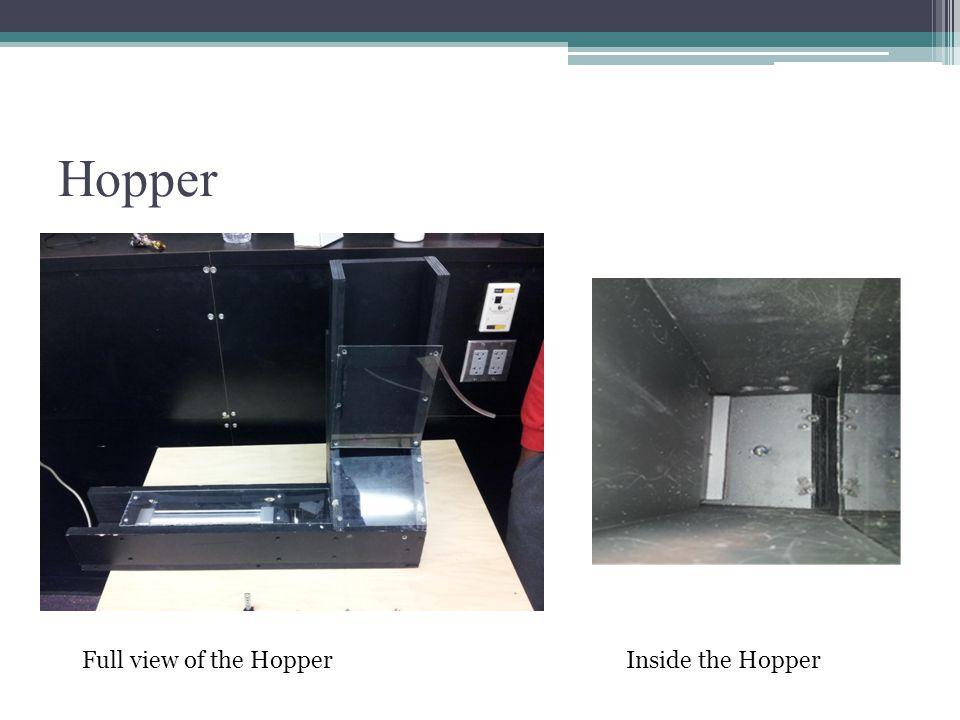 Hopper Full view of the HopperInside the Hopper