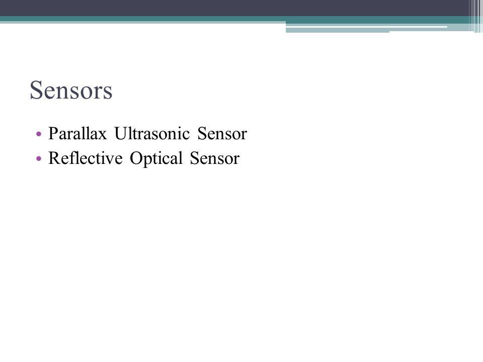 Parallax Ultrasonic Sensor Part a) Sensor is sending a ultrasonic pulse but object is outside of operating distance Part b) Sensor facing object at a angle.