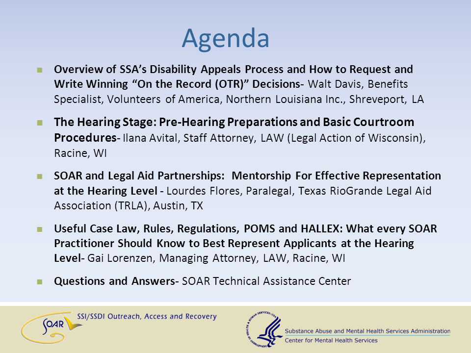 Questions and Answers Facilitated By: SAMHSA SOAR Technical Assistance Center Policy Research Associates, Inc.