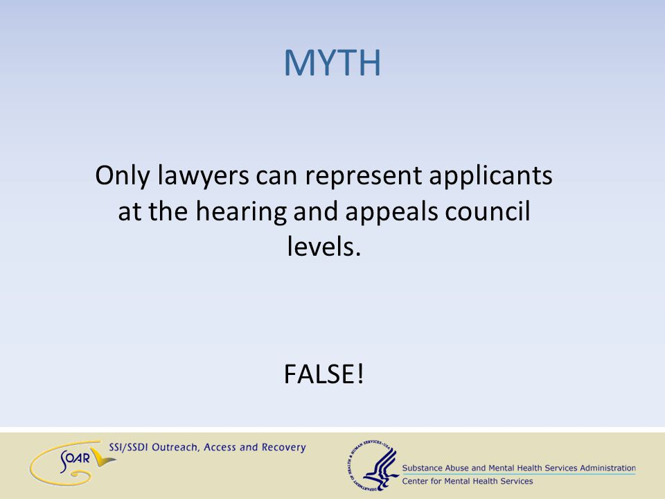 MYTH If an applicant is denied at the initial level, then DDS won't reverse itself, so the applicant is denied at reconsideration.